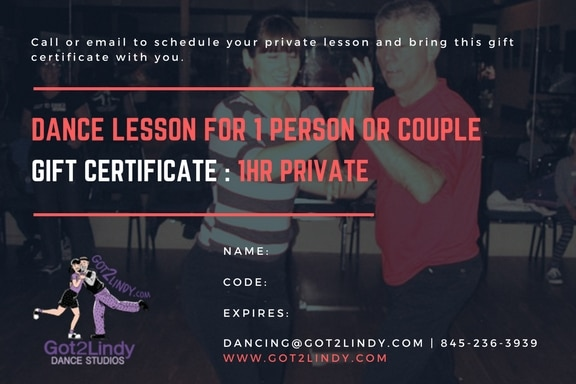 Gift Certificate - Private Dance Lesson