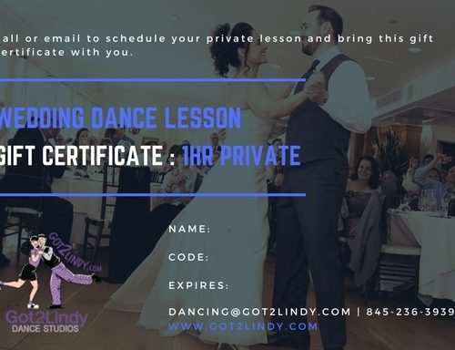 Private Wedding Dance Gift Certificate