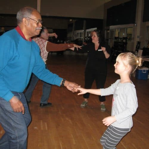 Adult and child swing dance at our Sat dance.