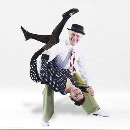 Linda and Chester demonstrating the iconic Lindy dip.
