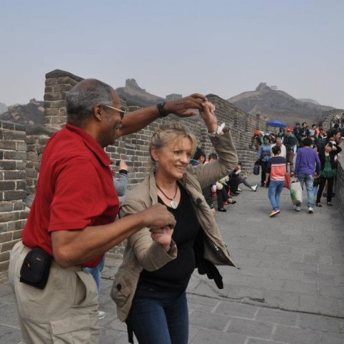 Ron & Joyce Swing Dancing on the Great Wall in China