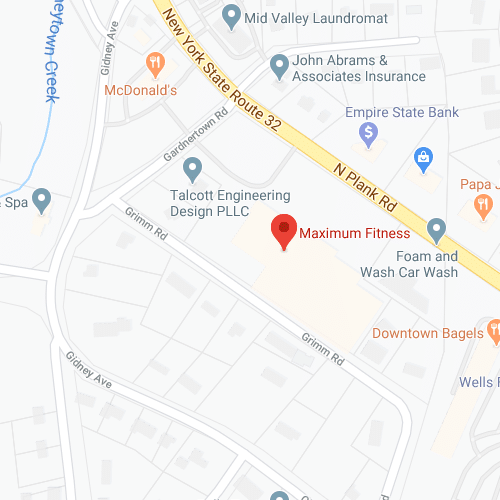 Google map with Maximum Fitness shown
