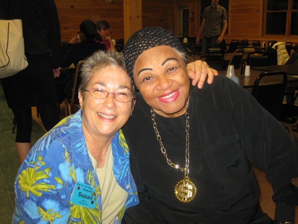 Susan and the master of musicality, Dawn Hampton.